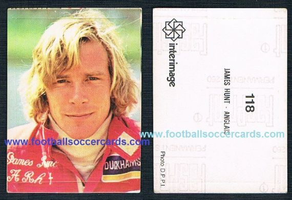 1978 James Hunt F1 World Champion FRENCH issue by Interimage